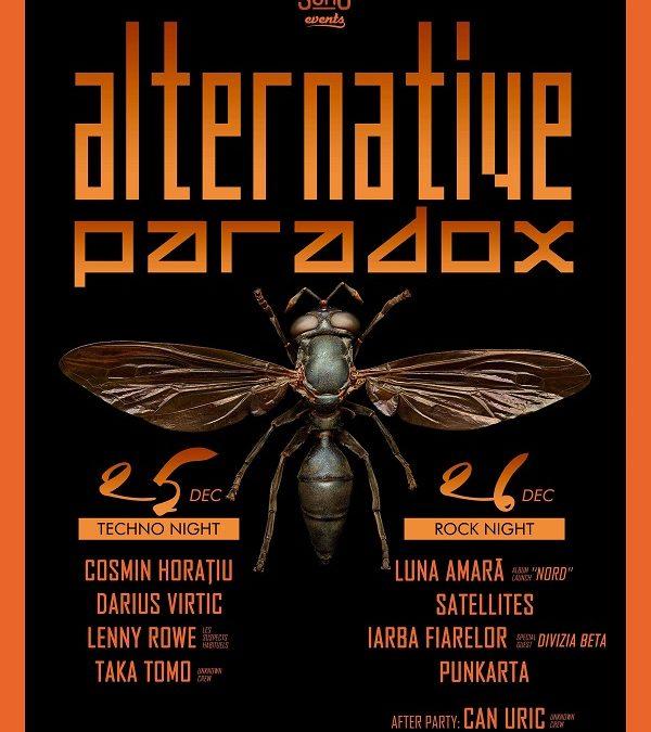25-26 decembrie, Luna Amară la Festivalul Alternative Paradox din Bistrița