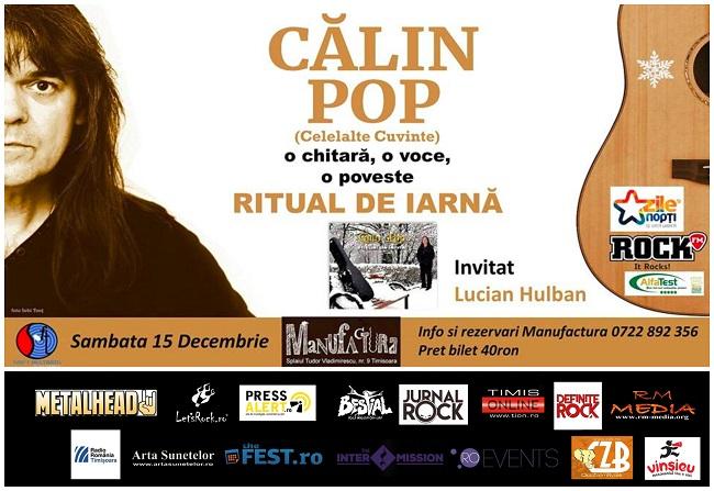 Concert acustic Călin Pop (Celelalte Cuvinte) live în Timișoara