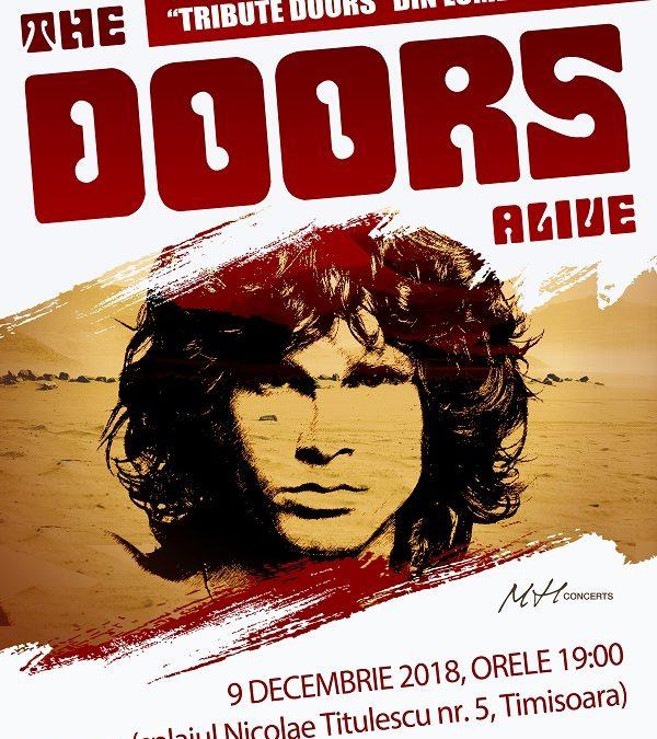 Cea mai renumită trupă tribut The Doors cânta în weekend la Timișoara – concert The Doors Alive