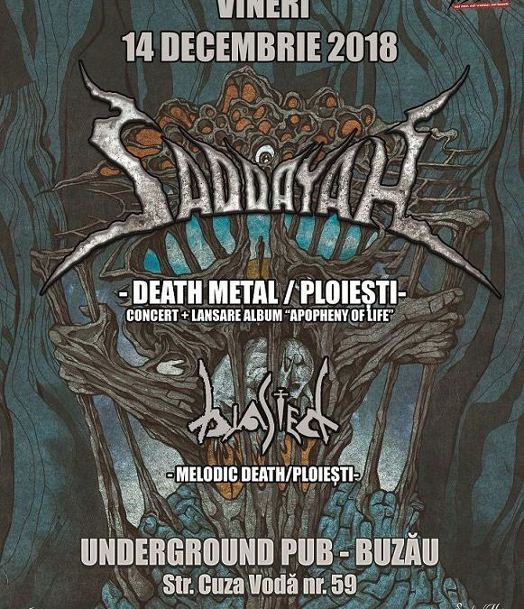 Weekend death metal cu Saddayah la Buzău și la București