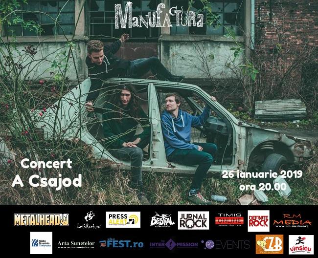 Trupa de funk-rock A Csajod în concert la Timișoara