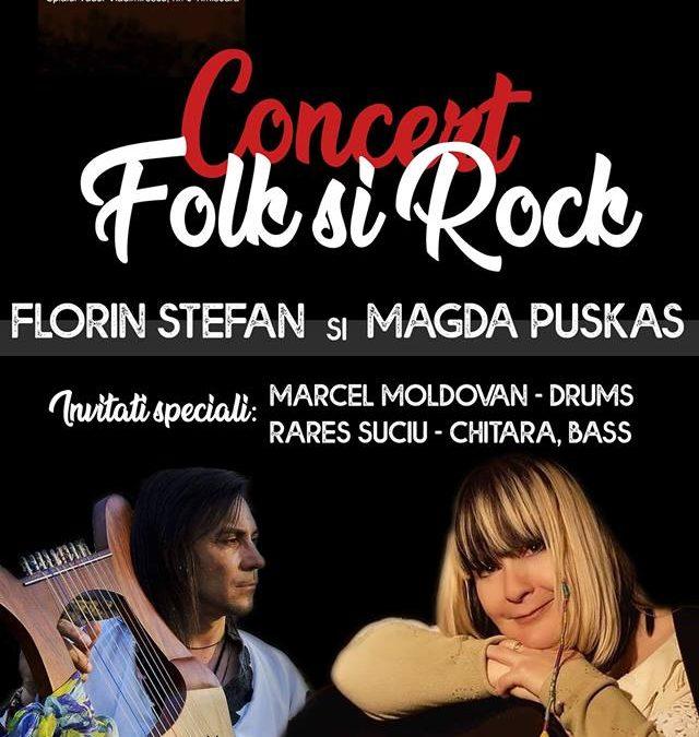 O noapte de folk-rock cu Florin Ștefan și Magda Puskas în Manufactura