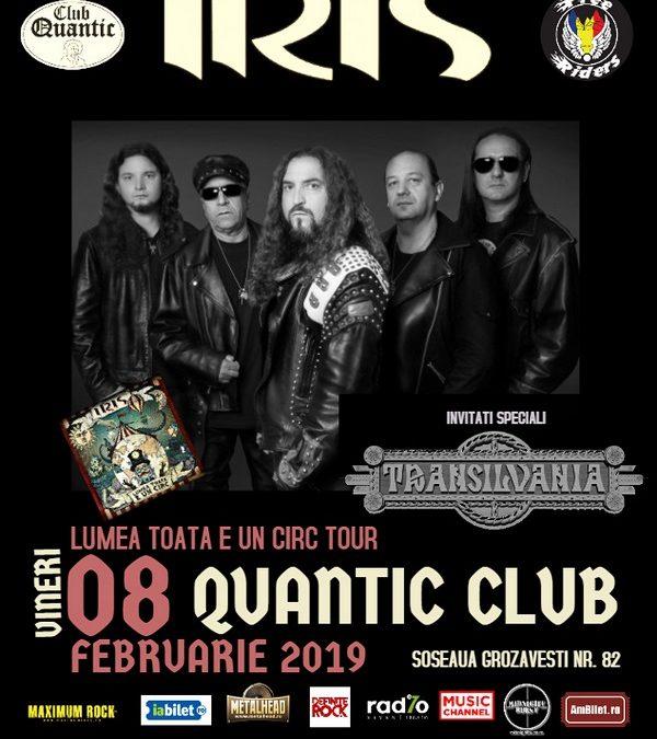 Primul concert din 2019 al trupei IRIS va avea loc în club Quantic pe 8 februarie