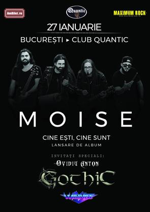 MOISE lansează primul material discografic pe 27 ianuarie în club Quantic din București