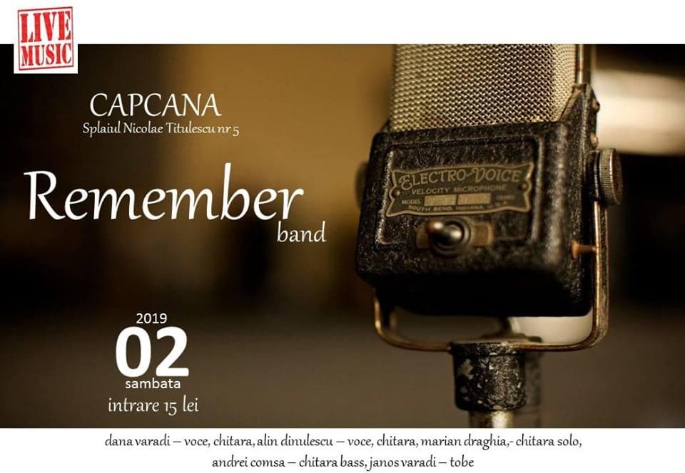 Concert folk-rock cu trupa Remember, live în Capcana, Timișoara