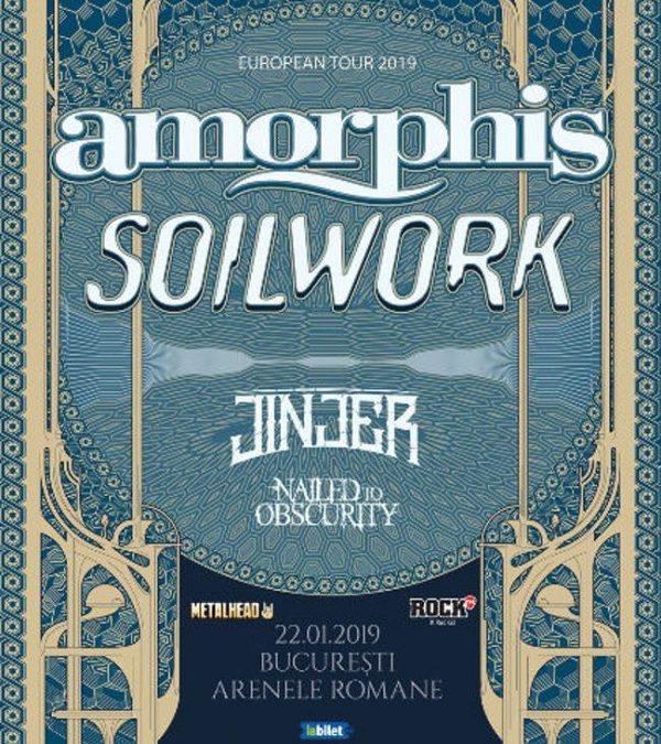 Amorphis și Soilwork la București: program și reguli de acces