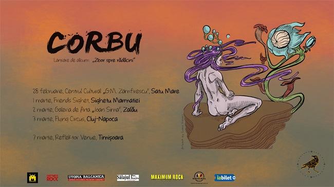 CORBU își lansează primul album în turneu