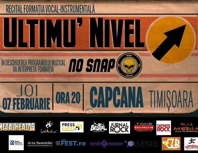 Ultimu' Nivel & No Snap – șlagăre PUNK în Timișoara