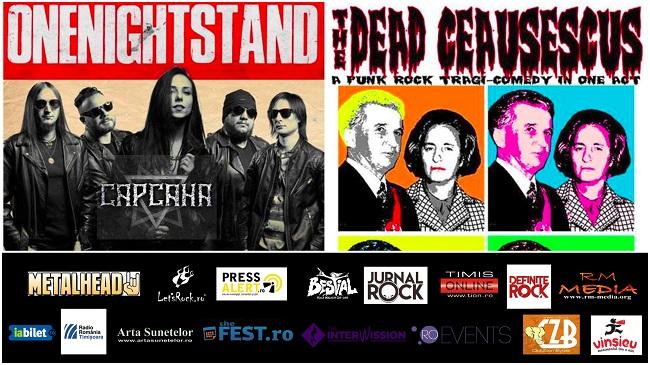 Concert The Dead Ceaușescus & onenightstand LIVE în Timișoara