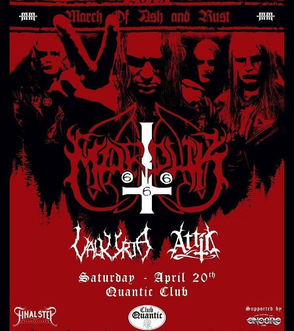 Nemții de la Attic se alătură concertului Marduk și Valkyrja din Quantic