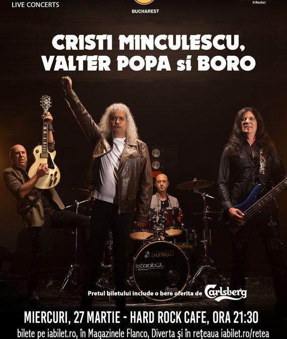 Concert Cristi Minculescu, Valter și Boro în Hard Rock Cafe