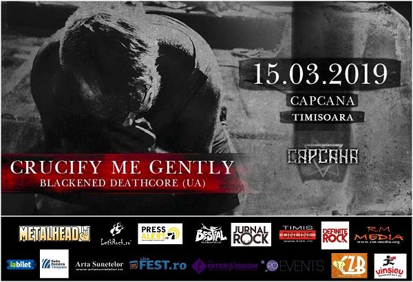 Blackened deathcore cu trupa Crucify Me Gently, LIVE în Timișoara