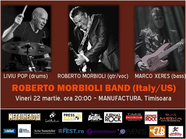 Concert Blues & Soul de excepție cu Roberto Morbioli Trio în Timișoara, la Manufactura
