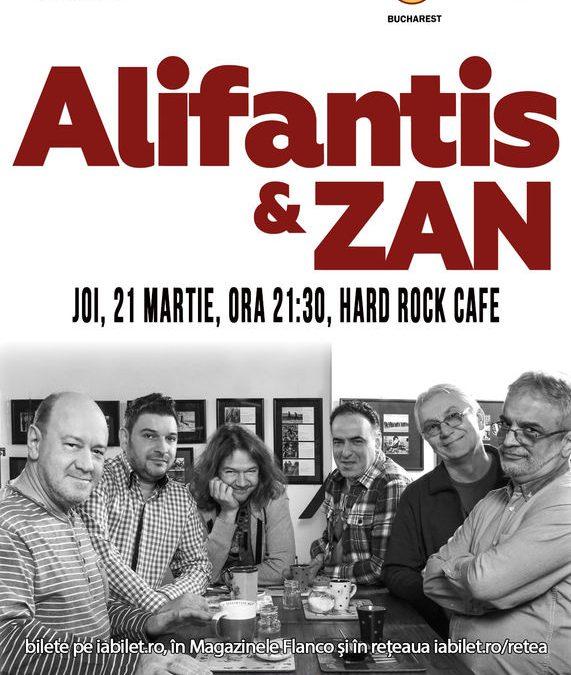 Concert Alifantis & ZAN în Hard Rock Cafe