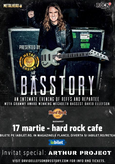 David Ellefson (Megadeth): an intimate evening in Hard Rock Cafe