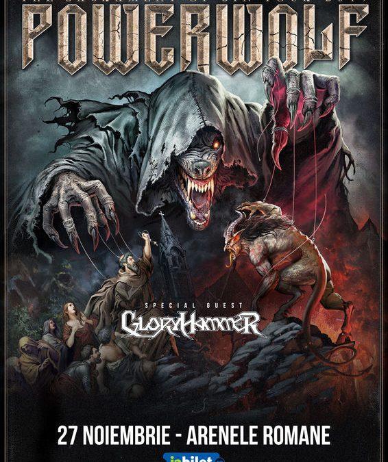 Powerwolf și Gloryhammer pe 27 noiembrie la Arenele Romane