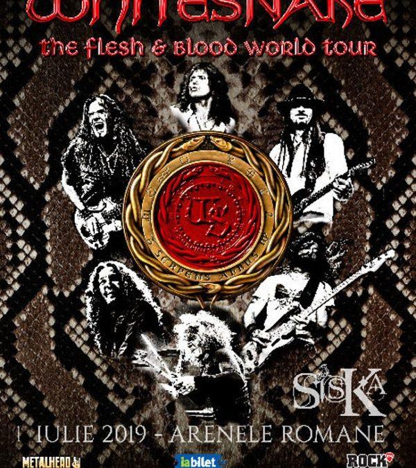 Siska va deschide concertul Whitesnake de la București