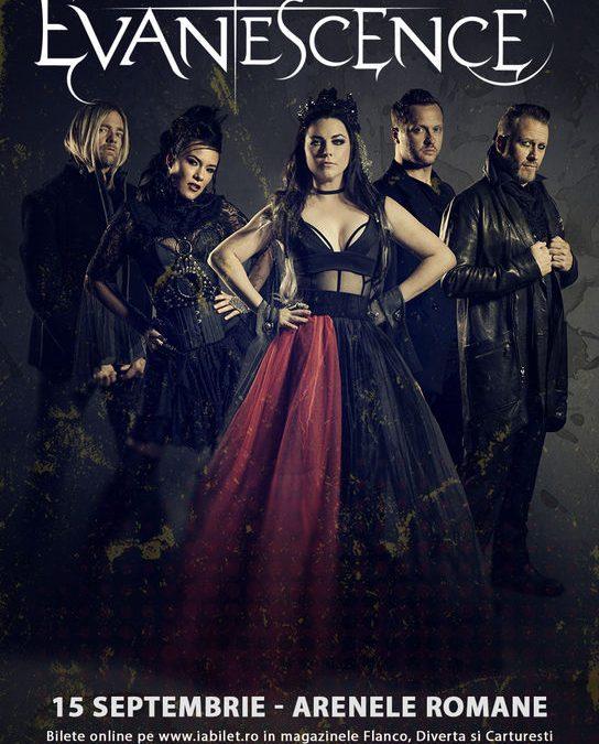 Concert Evanescence la Arenele Romane pe 15 septembrie