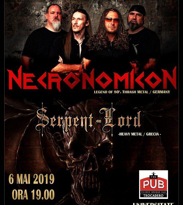 Necronomicon, trupa de referință a thrashului german, pentru prima dată în concert la București!