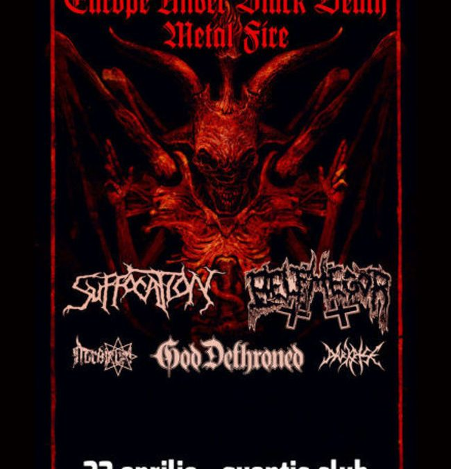 Suffocation, Belphegor și God Dethroned în Quantic și /Form Space: Program și reguli de acces