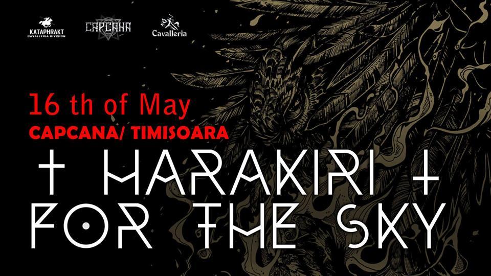 Concert Harakiri for the Sky LIVE în Timișoara. În deschidere Paint for the Blind și Magnetic.