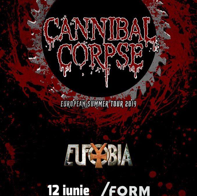 O săptămână până la concertele Cannibal Corpse și Eufobia de la Cluj-Napoca și București. Program și reguli de acces.