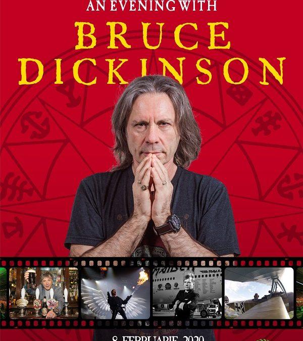 BRUCE DICKINSON, solistul IRON MAIDEN, un eveniment one-man show în București