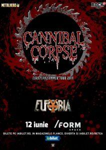 Cronică de concert: Cannibal Corpse şi Eufobia în /Form Space Cluj-Napoca