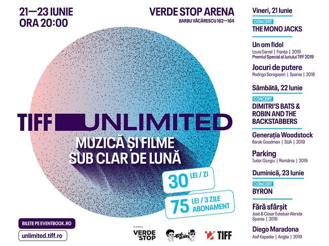 The Mono Jacks, Robin and the Backstabbers si byron cântă în acest weekend la Verde Stop Arena la evenimentul TIFF Unlimited – filme și muzică sub clar de lună