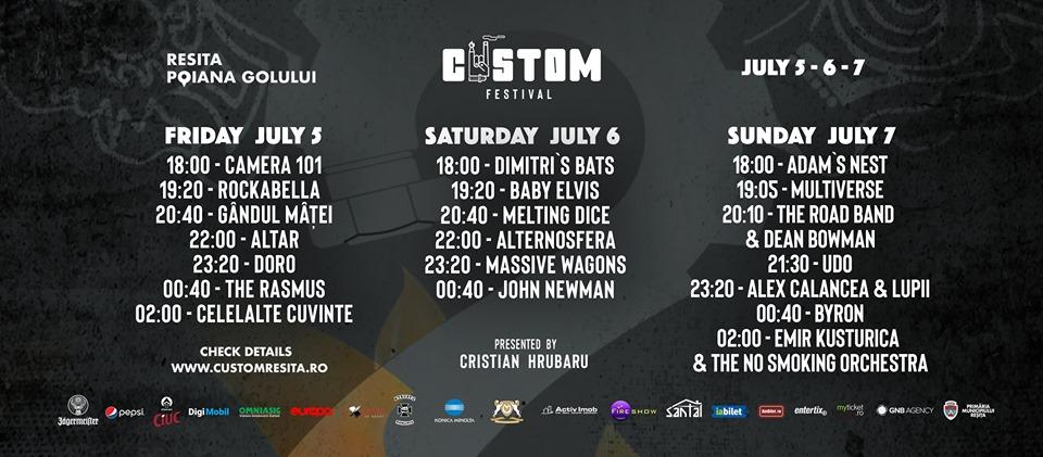 Concerte rock în mijlocul naturii. Începe Custom Reșița Festival 2019!