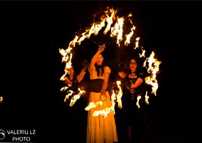Festivalul Celtic Transilvania 2019 – Jonglerii de foc – foto Valeriu Lazăr
