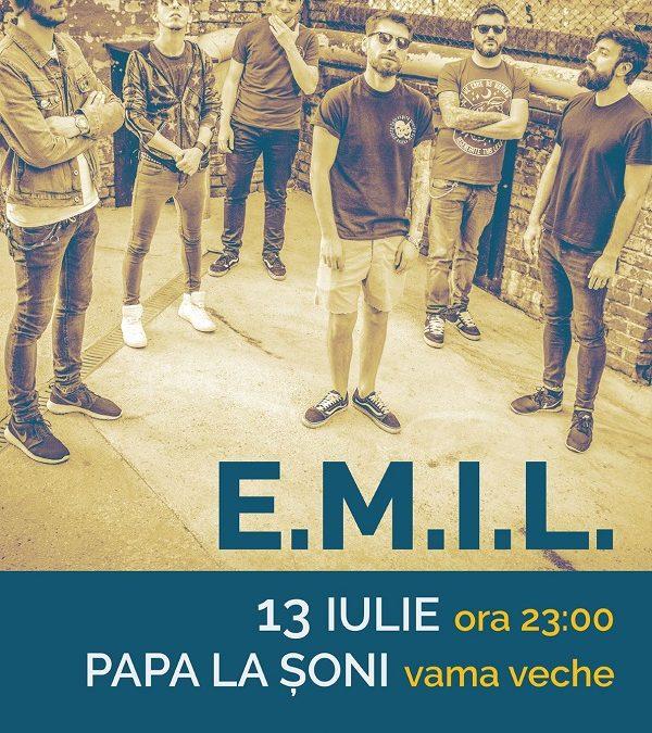 E.M.I.L. concertează în Vama Veche pe 13 iulie la Papa la Șoni