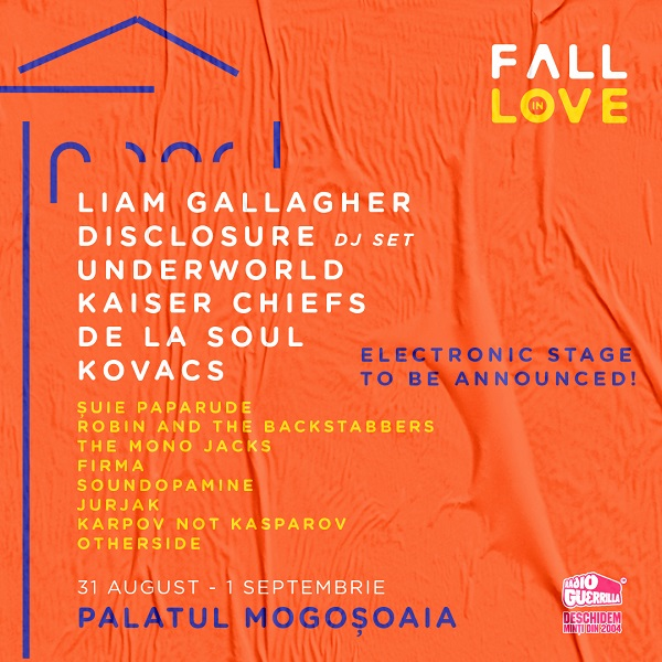 Nou val de confirmări la Fall in Love Festival:  Underworld, De La Soul,  Robin and The Backstabbers, Soundopamine, Karpov not Kasparov și Otherside