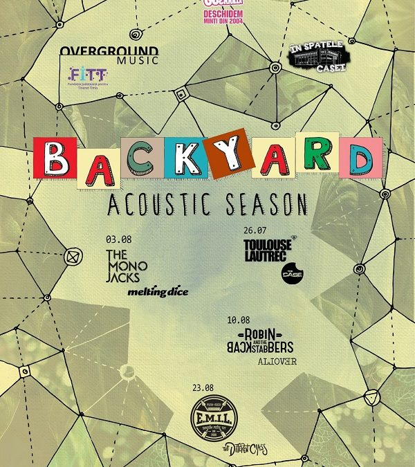 """Seria de concerte acustice Backyard Acoustic Season revine vara aceasta la Timișoara pe terasa """"În spatele casei"""""""