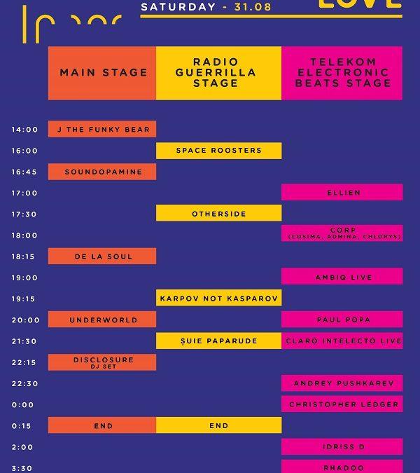 Programul concertelor de la Fall in Love Festival. Transport gratuit către festival. Bilete pe zile și reguli de acces.