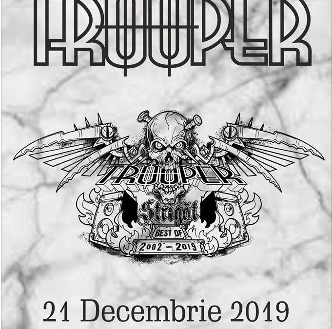 """Trooper suplimentează biletele pentru categoria VIP la concertul """"Strigăt: Best of 2002 – 2019"""" ce va avea loc în clubul Quantic"""