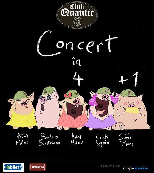 Concert în 4 + 1 cu Ada Milea în Grădina de Vară Quantic