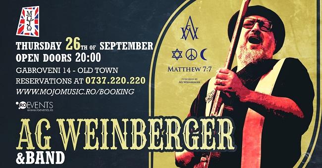 Concert extraordinar AG Weinberger, în club Mojo din București
