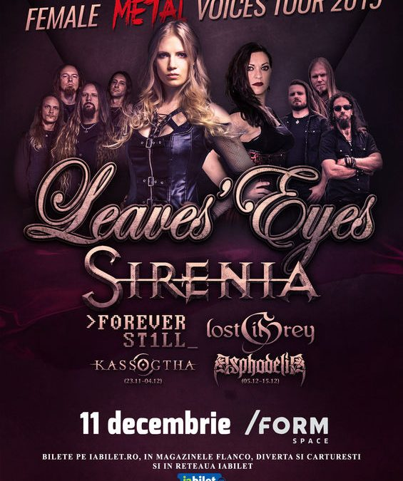 Cronică de concert: Leaves' Eyes, Sirenia, Forever Still, Lost in Grey și Asphodelia în /Form Space Cluj-Napoca