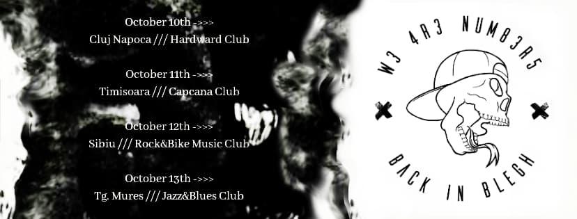 W3 4R3 NUM83R5 și Why Cat, Why? vor susține un mini-turneu de 4 concerte în acest sfârșit de săptămână
