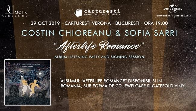 """Costin Chioreanu și Sofia Sarri lansează albumul """"Afterlife Romance"""" în România"""