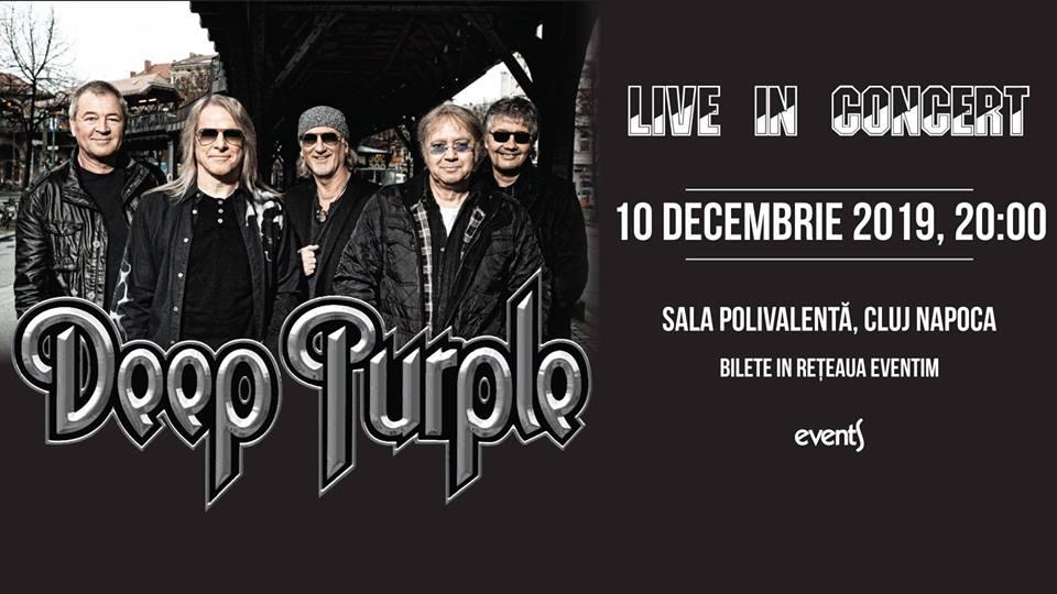Deep Purple va concerta din nou la Cluj-Napoca