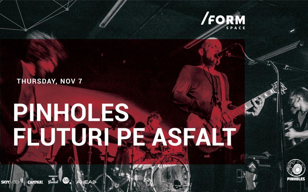 Pinholes și Fluturi pe Asfalt vor concerta în /Form Space Cluj-Napoca