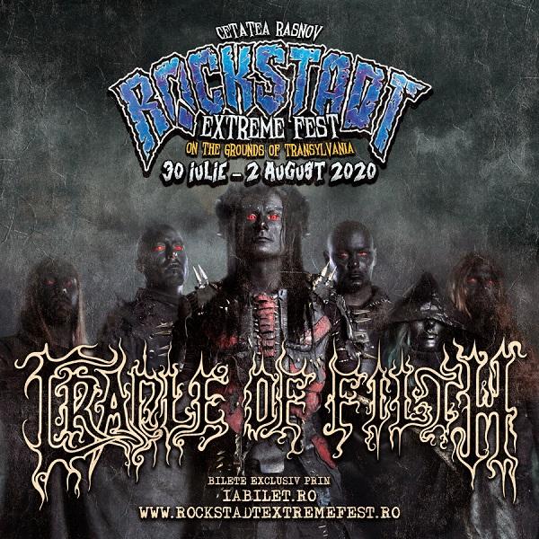 Cradle of Filth, pentru prima dată la Rockstadt Extreme Fest 2020