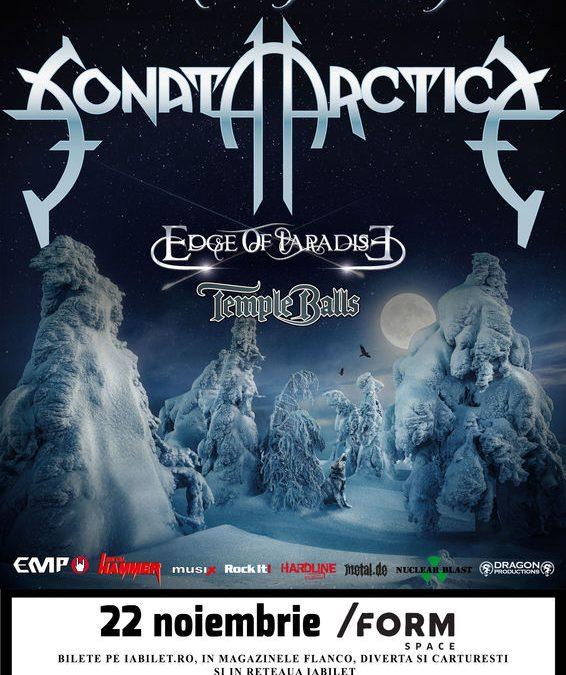 Cronică de concert: Sonata Arctica, Edge of Paradise și Temple Balls în /Form Space Cluj-Napoca