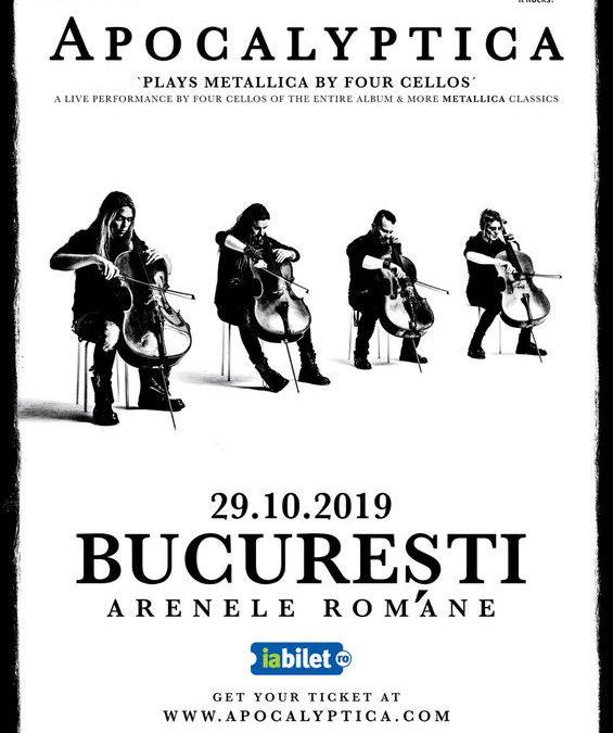 Apocalyptica plays Metallica by 4 cellos, la Arenele Romane pe 4 octombrie