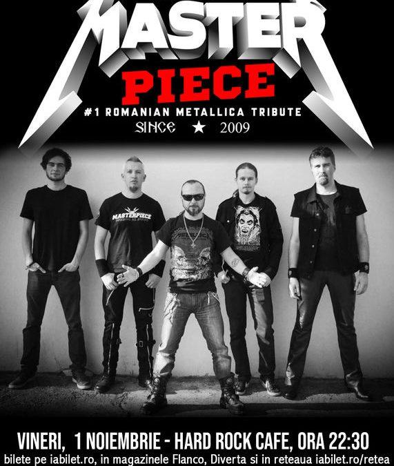 Concert Tribut Metallica cu Masterpiece la Hard Rock Cafe pe 1 noiembrie