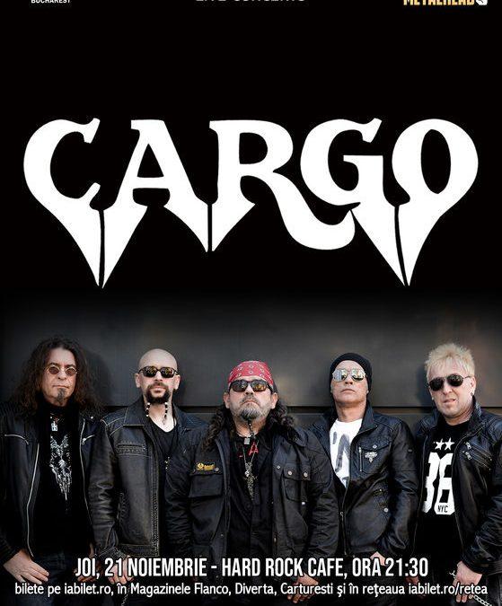Concert Cargo la Hard Rock Cafe pe 21 noiembrie