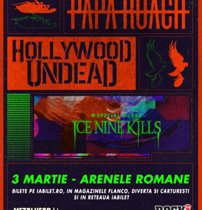Ice Nine Kills deschid concertul Papa Roach și Hollywood Undead