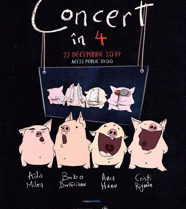 'Concert în 4 + 1' alături de Ada Milea, Bobo Burlacianu, Anca Hanu și Cristi Rigman, în Quantic